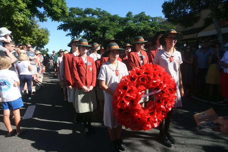 Local Youth supporting Anzac Day